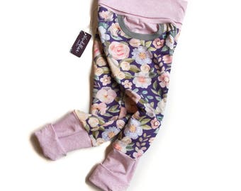 Grow With Me Pants - Girls Joggers - Blossom Joggers - Baby Joggers - Girls Sweatpants - Floral Joggers - Kids Jogger Pants - Comfy Pants
