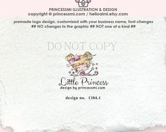 1304-1   girl logo, little girl, logo design, boutique logo, kids logo, children logo, business logo, cute logo, premade logo design
