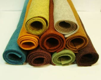 "Darlas 9 Color Collection Wool Felt Blend Fabric Sheets 9"" x 12"""