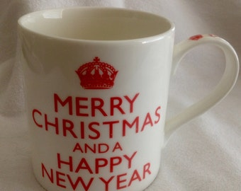 Kent Pottery Merry Christmas And A Happy New Year Mug