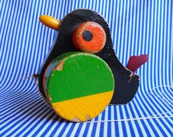 Vintage Bird Pull Along Toy
