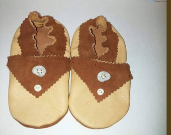 Brown Leather Tbar Toddler Shoes