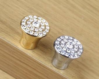 European Crystal Knobs Drawer Knobs Dresser Knobs Cabinet Knobs Door Knobs  Modern Simple Small Knobs