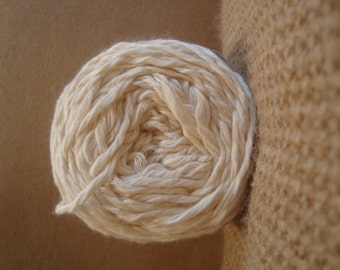 Natural Undyed Organic cotton Bamboo Yarn