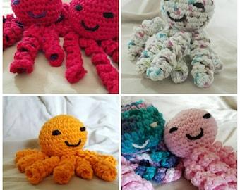Custom Octopus, crocheted octopus, amigurumi stuffed octopus, octopus plush, ocean theme,  baby shower gift, photo prop, Preemie Octopus