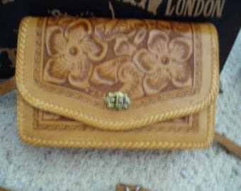 Hand Tooled Leather Shoulder Purse