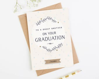Brother Graduation Card Personalised