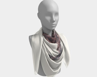 First Snow in Patina Western Scarf