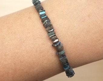 Heishi Labradorite Beaded Bracelet