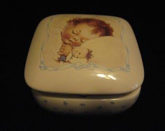 Mabel Lucie Attwell trinket box hinged ceramic