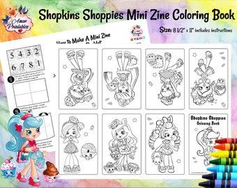 Shopkins Shoppies Mini Coloring Page   Shopkins Shoppies Mini Zine   Coloring Pages   Coloring Books   Activity Pages   Activity Sheet