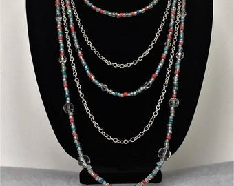 Crystals and Chains Necklace