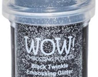 WOW- Embossing Glitter- BLACK TWINKLE- Regular