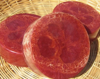 Cranberry Pomegranate Loofah Soap, Palm Oil Free Soap, Luffa Soap, Bar Soap, Cranberry Soap, Fruit scented soap, Glycerin Soap, Honey Soap