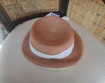 vintage Linda Jane hat with white sash