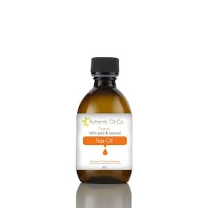 Flaxseed (Linseed) Virgin Certified Organic Oil 10ml 50ml 100ml 250ml 500ml 1 litre