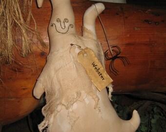 Webster - the friendly ghost shelf sitter