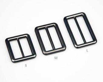 "2 Pieces Strap Adjuster Strap Slider /Messenger Bag Hardware/Matt Gunmental/Inner Size 26mm(1""), 32mm(1.25"") And 38mm(1.49"")  No.30152"
