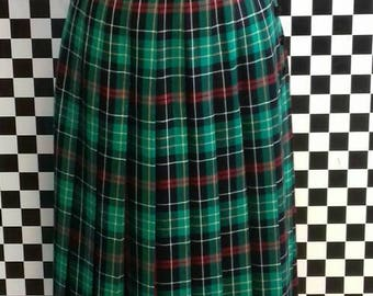 Long pleated festive skirt by Viyella - S/M