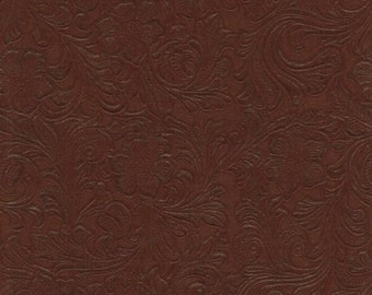 Faux Leather Fabric Upholstery Vinyl Embossed Trail824 Buckskin by the Yard