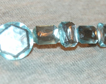 Barrette Hair Clip, Rhinestone Clear Sparkling, Vintage old jewelry