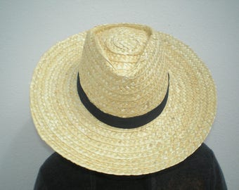 Straw hat-Portuguese traditional hat- Traditional working hat
