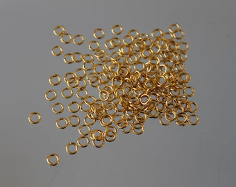 100 gilded - 4 mm open jump rings