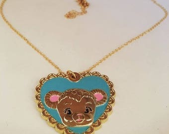 Bitter Squeaks Bearie Darling necklace