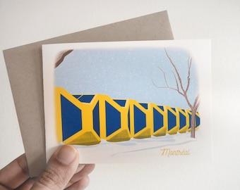 Préfontaine greeting card
