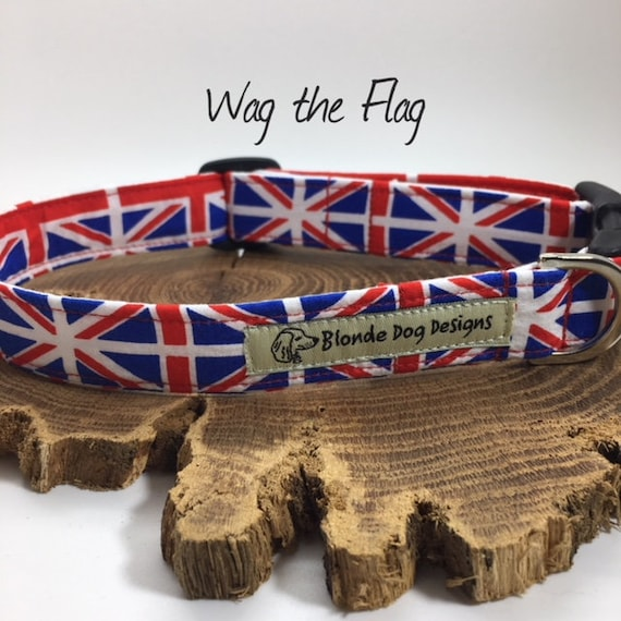 Union Jack Dog Collar, Wag the Flag, Cute Dog Collar, Flag Dog Collar, Union Jack Collar, Luxury Dog Collar