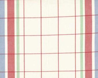 Moda Toweling Cherry 920 115 Yardage, cloth napkin fabric, old fashioned toweling, plaid cloth napkins, DIY napkins, DIY kitchen towels