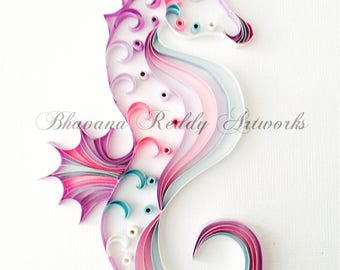 Quilled Art - Seahorse