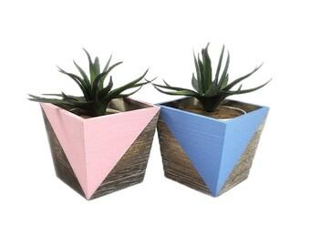 Planter | Geometric Planter | Succulent Planter | Home Decor | Wooden Planter | Pastel | Planter & Pots | Gift for Her | Planter Box