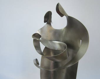"Family / Nativity-11-12"" height- Stainless Steel Sculpture Art"