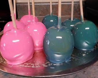 Grannies  Old Fashion Candy Apples with Different colors and flavors