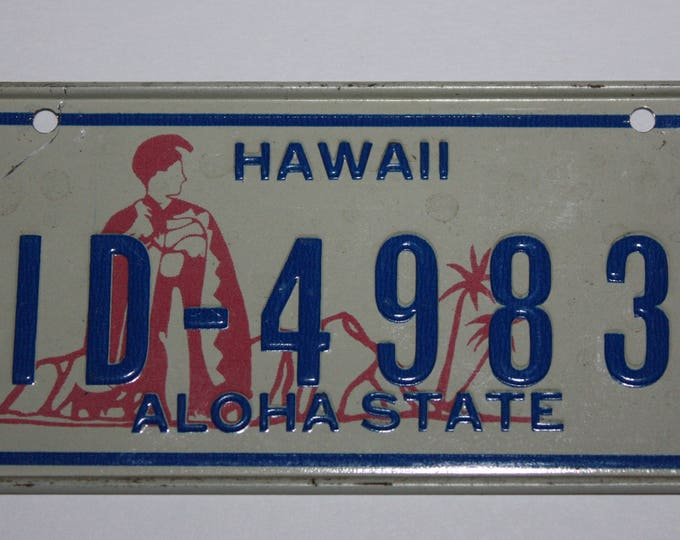 1978 Hawaii Wheaties Post Cereal Premium Bike Mini Metal License Plate