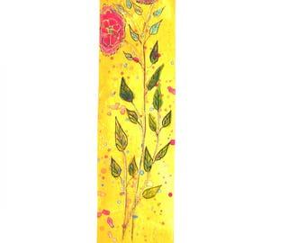 Marque pages fait main dessin fleurs.