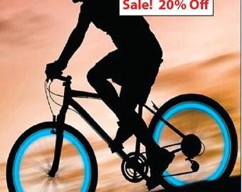 SALE! Decorate your bike! Get a set of 2 or 4 motion activated LED lights for valve stem of bike/motorcycle. Light up your wheels! Be safe!