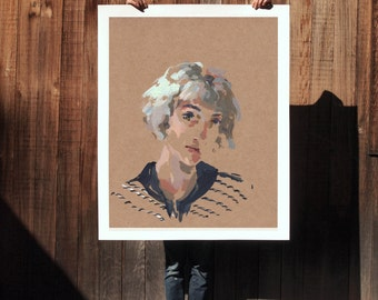 Esther .  extra large wall art . giclee print