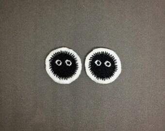 Soot Sprites - Studio Ghibli - Embroidered Premium Patch / Iron On