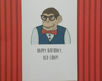 Chimp Birthday card