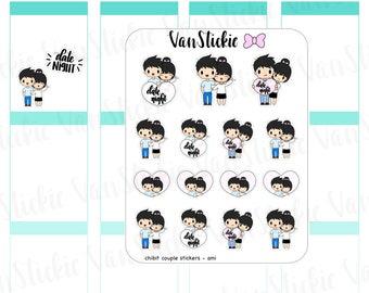 Chibi - Chibit Couple/Date Night Planner Stickers | VSC 070