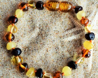Amber bracelet, Genuine Baltic Amber. Baby Teething Bracelet. Baltic amber. teething bracelet. Baby amber bracelet. Baby amber anklet