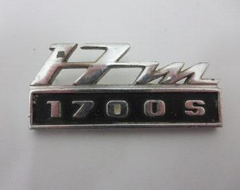 Vintage Ford 17M 1700S Car Badge Emblem Logo European Market Factory Original