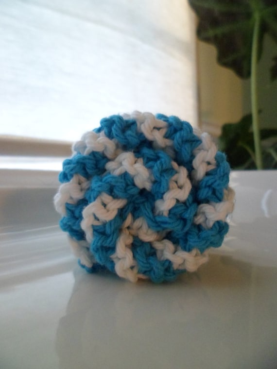 Blue Stripes Cotton Dishcloth