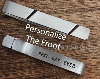 Best Day Ever Tie Clip Groom Tie Clip Groom Tie Bar Gift for Groom on Wedding Day Tie Clip Engraved Tie Clip Groom Gift Future Husband