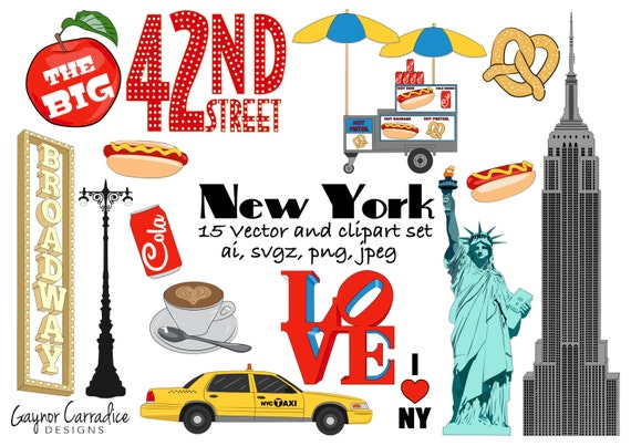 new york clipart ny clip art city graphics big apple vectors rh etsy com new york city clipart new york clipart skyline
