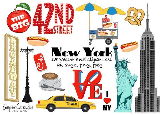 new york clipart ny clip art city graphics big apple vectors rh etsy com new york clipart free new york clipart png