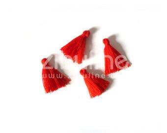 Charm - red yarn tassel