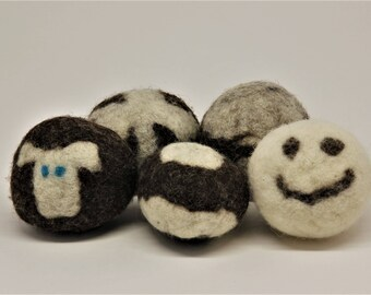 Handmade Wool Dryer Balls (set of 5)